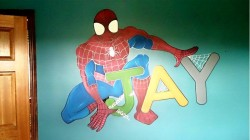Spiderman Action Mural